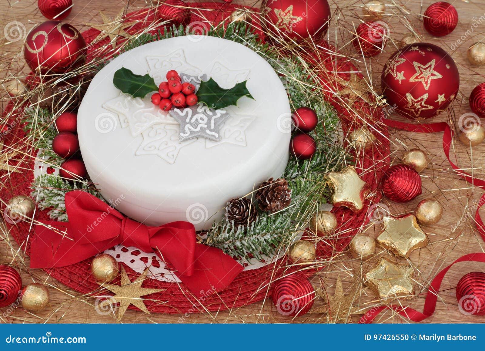 Gateau De Fete De Noel.Gâteau De Fête De Noël Photo Stock Image Du Chêne Sapin