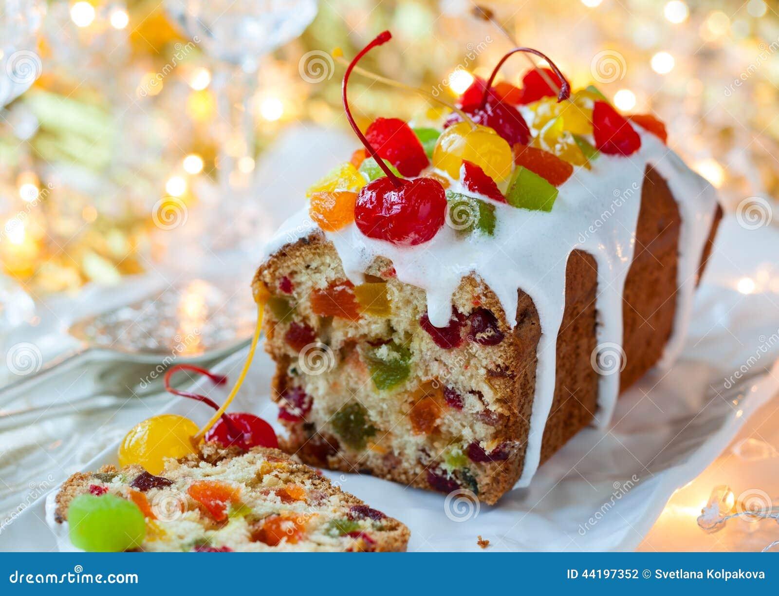 Gâteau de fruits secs de Noël