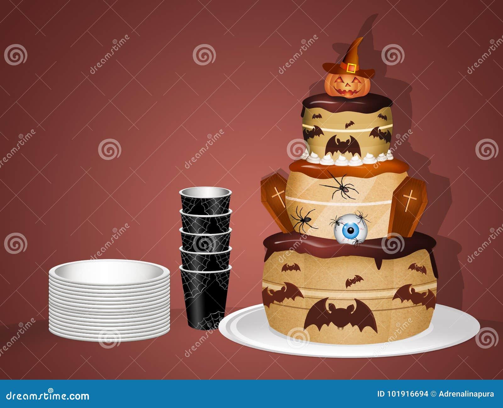 Gâteau de Halloween pour la partie