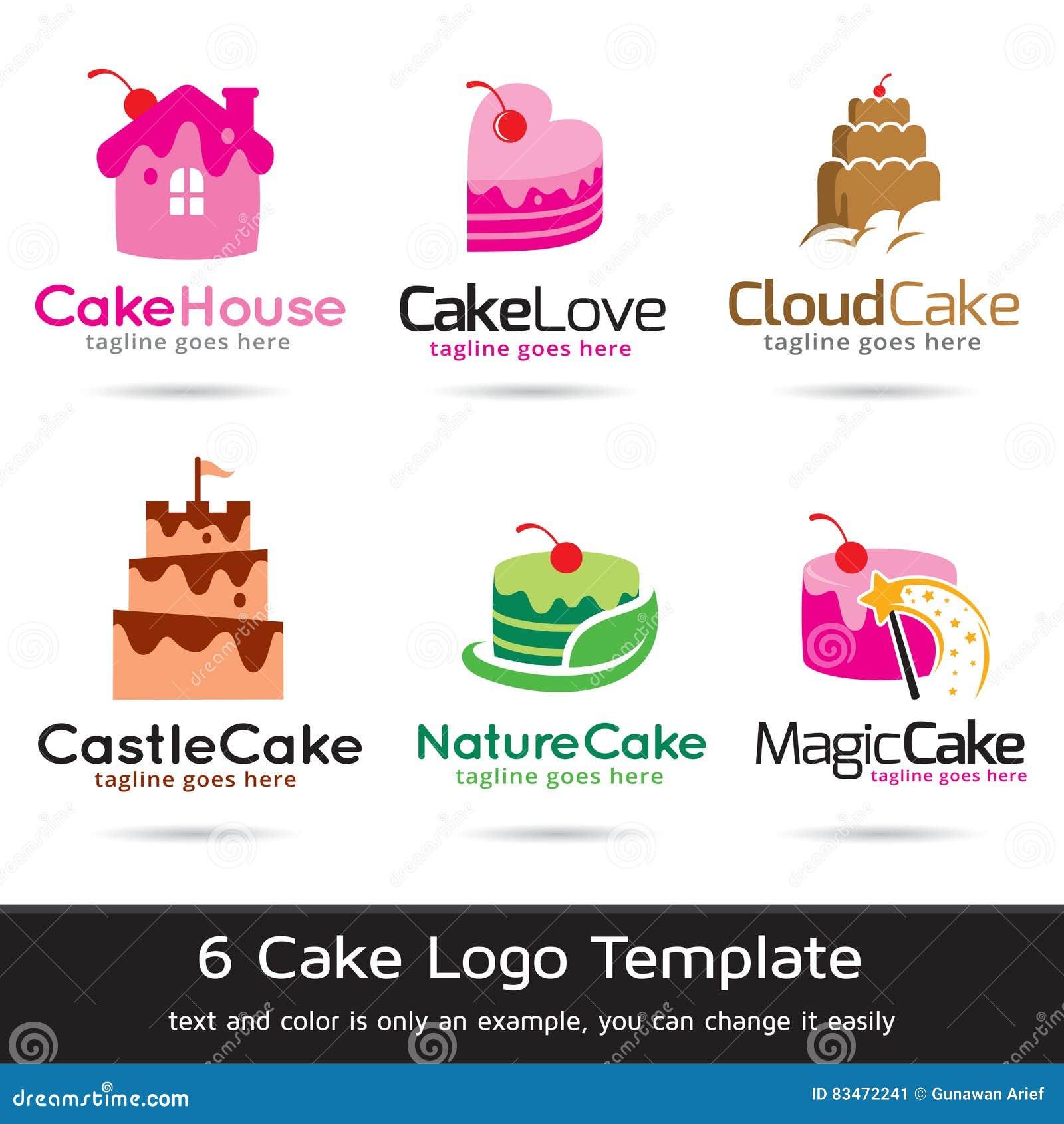 Gateau Logo Template Design Vector Illustration De Vecteur