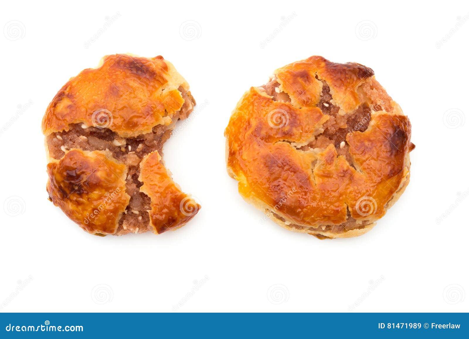 Gâteaux caoutchouteux doux ou le chickee de vue supérieure les mini durcit avec un bited et un complet
