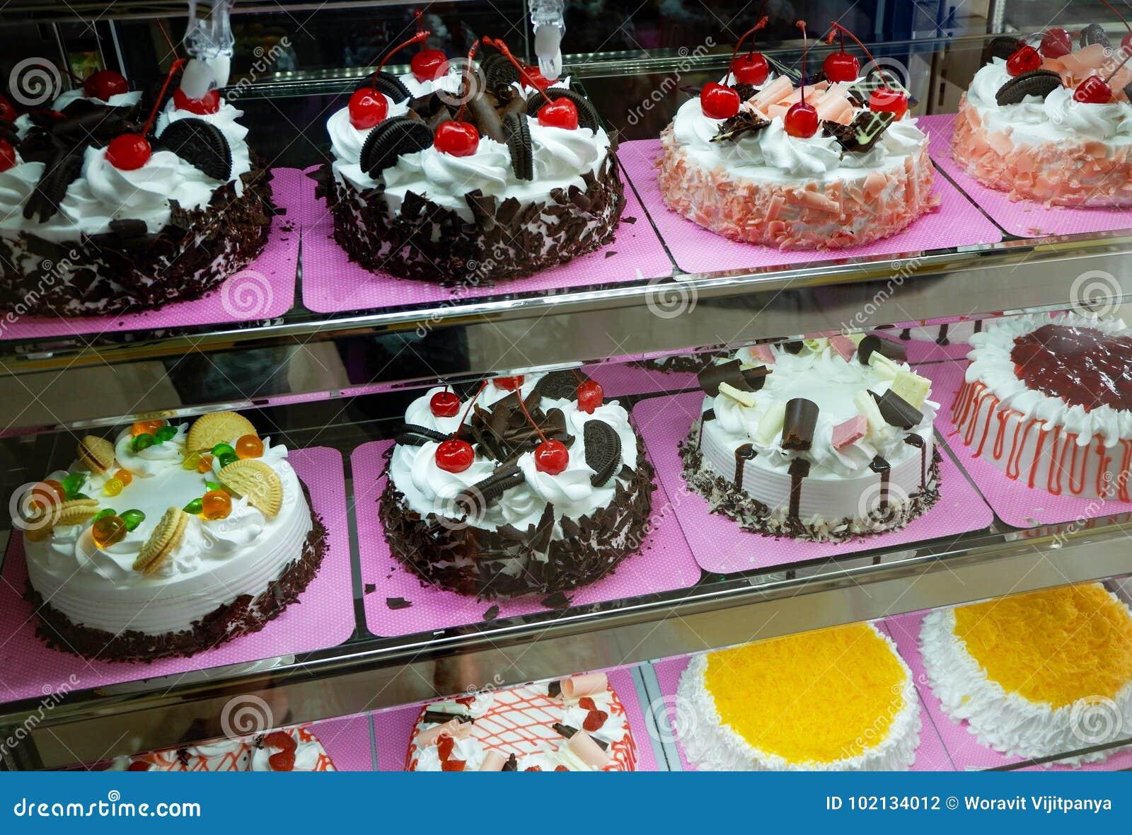 Gâteaux dans une boutique de gâteau