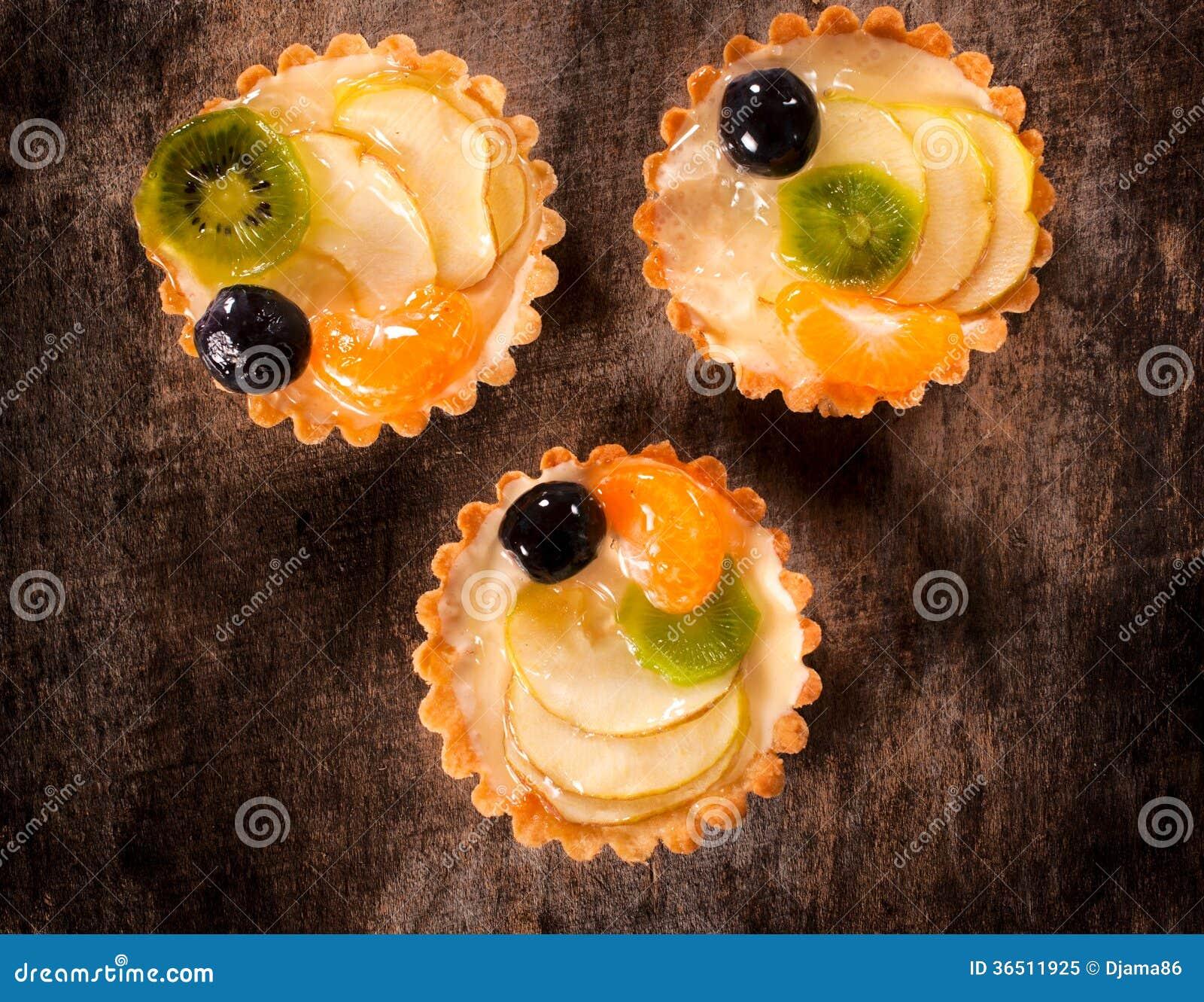 Gâteaux de fruit