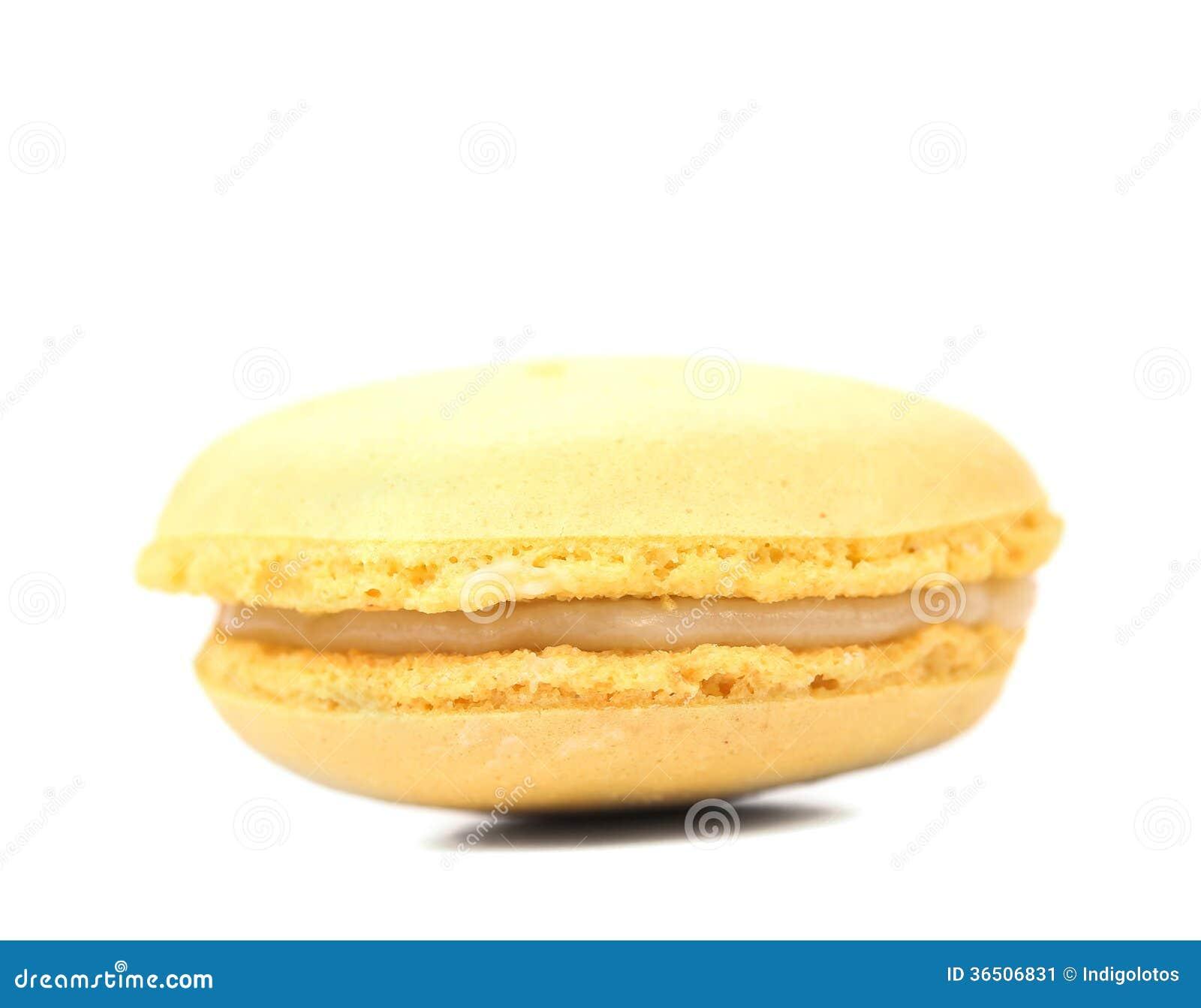 Gâteaux jaunes de macaron.