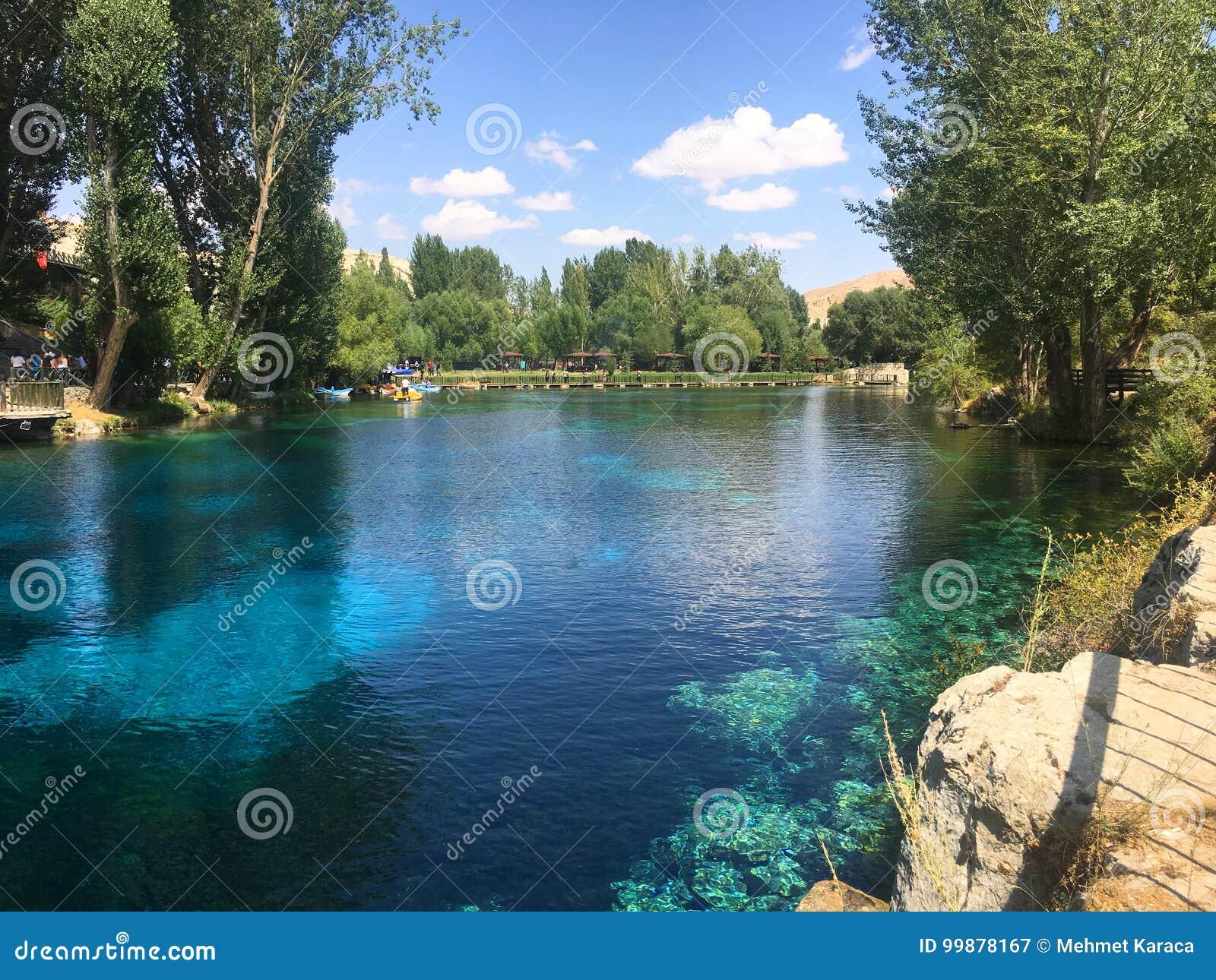 Blue Lake and Blue Sky