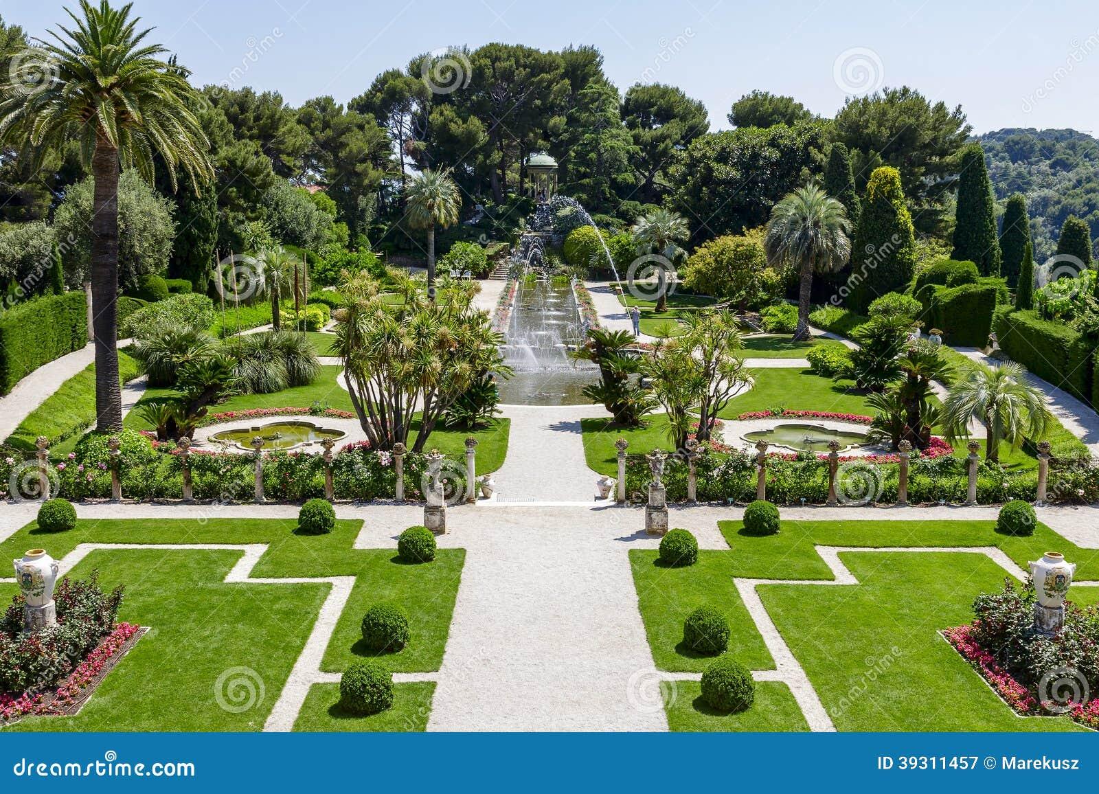 Gärten Von Villa Ephrussi De Rothschild Redaktionelles ...