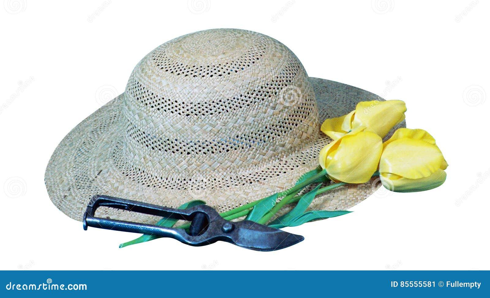 Gärtner ` s Hut, Blume und secateur