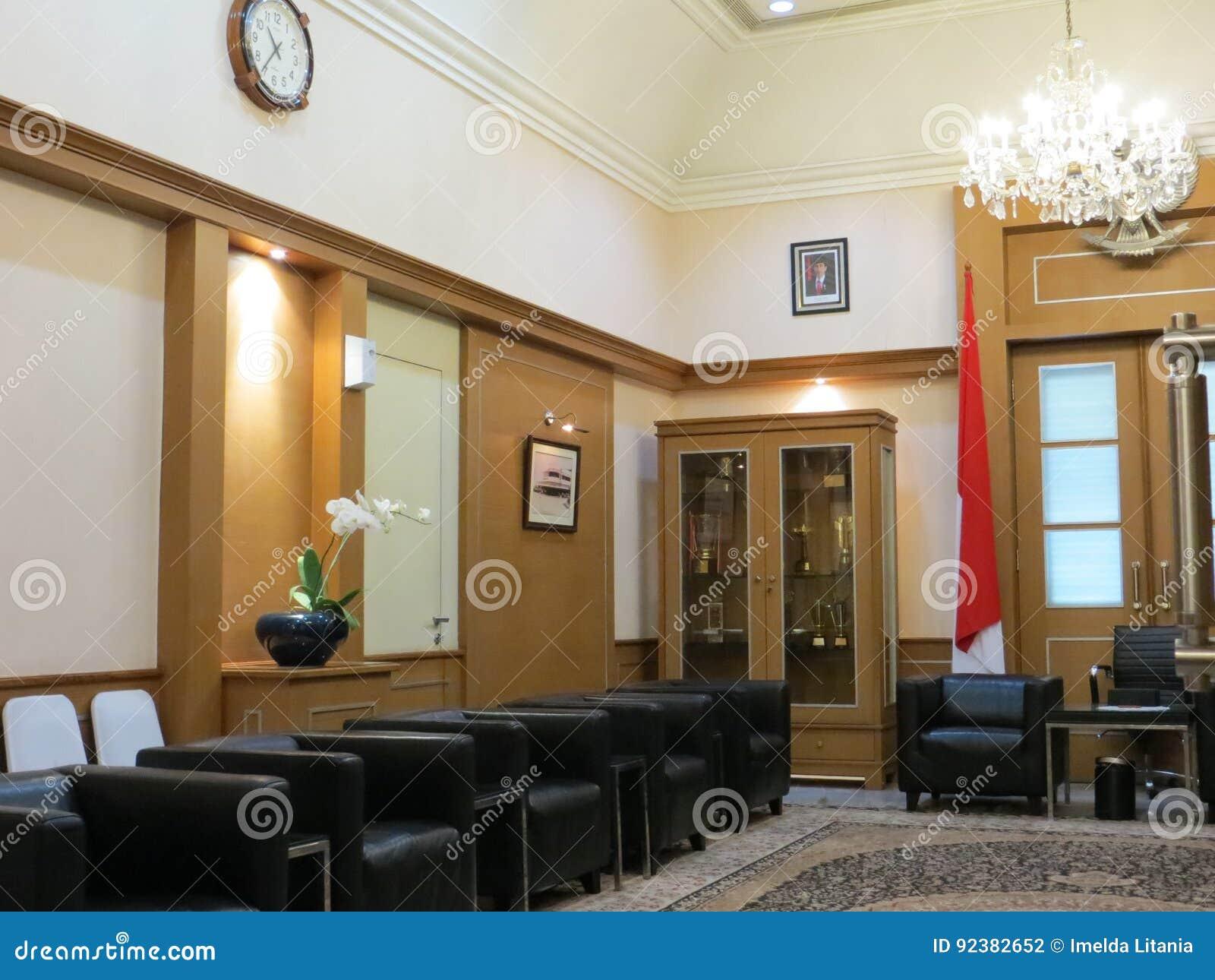 Gästrum på det Jakarta stadshuset