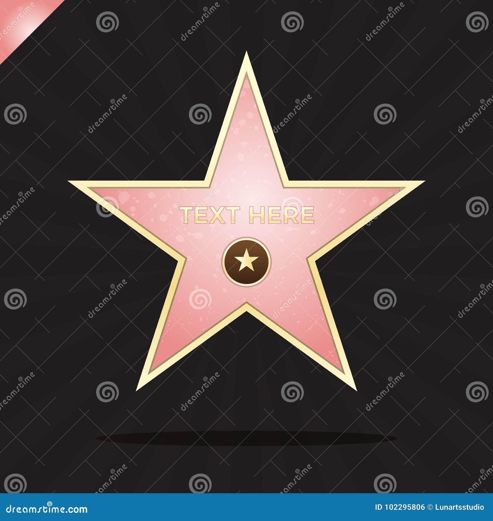 Gå av berömmelsestjärnaillustration Berömt belöningsymbol Prestation av skådespelarekändisen Design för Hollywood vektorframgång