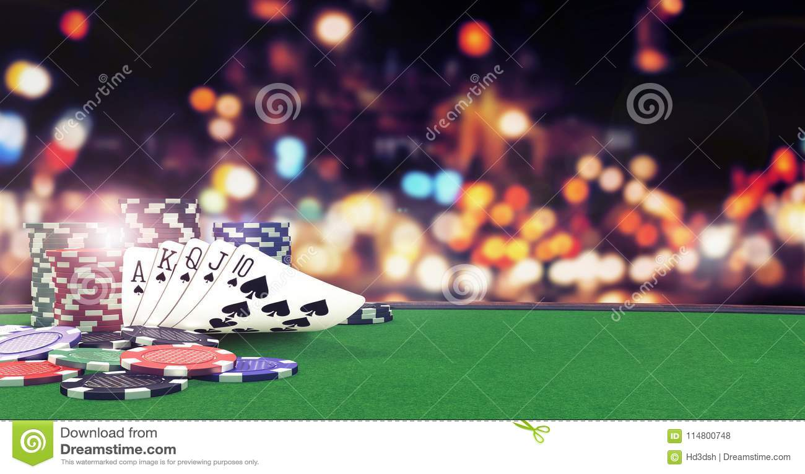 Gå i flisor slät kunglig bakgrund för poker med kasinot på den gröna tabellen