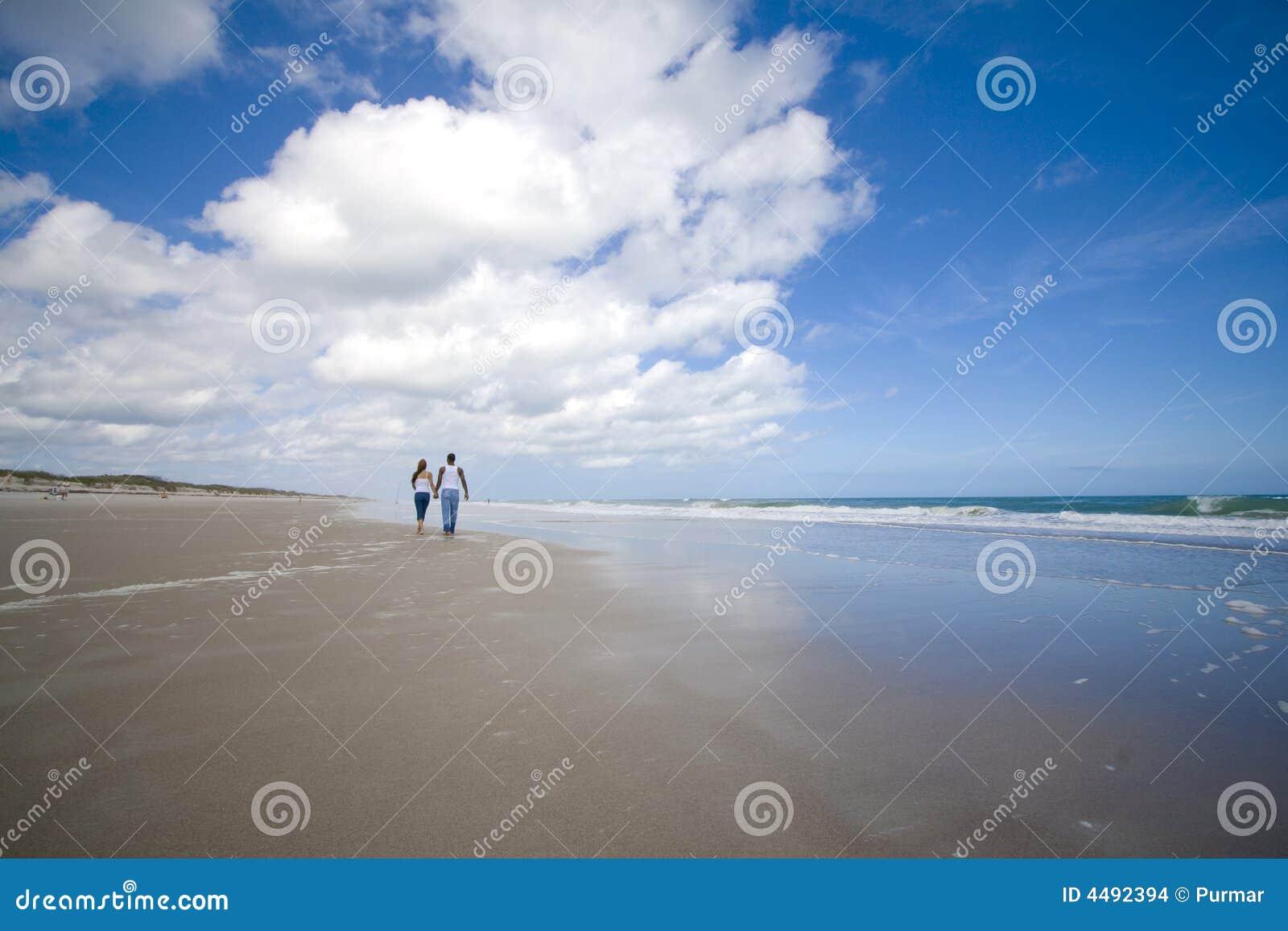 Gå på en strand