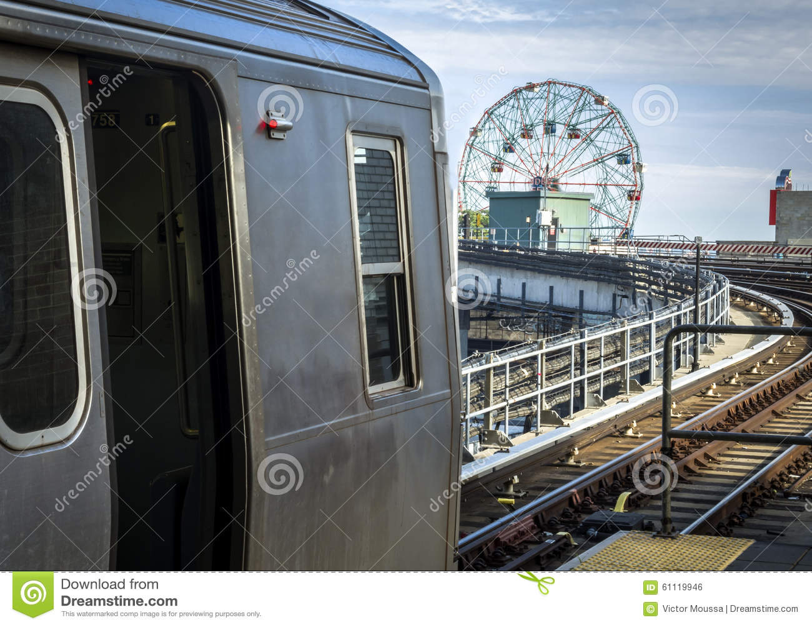 Gångtunnel på Coney Island i Brooklyn, New York