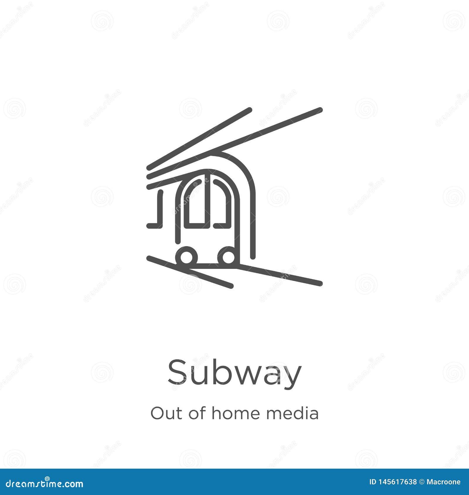 Gångtunnelsymbolsvektor från ut ur hem- massmediasamling Tunn linje illustration för vektor för gångtunnelöversiktssymbol Översik