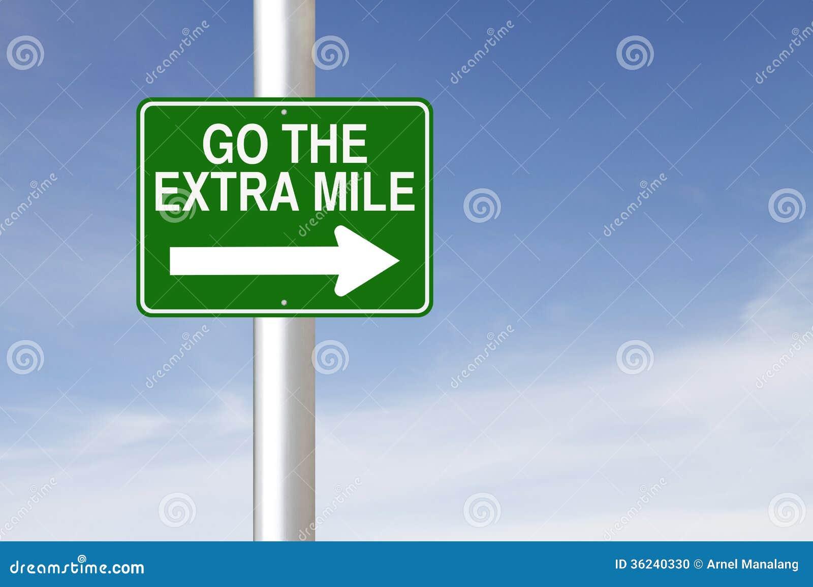 Går den extra mil