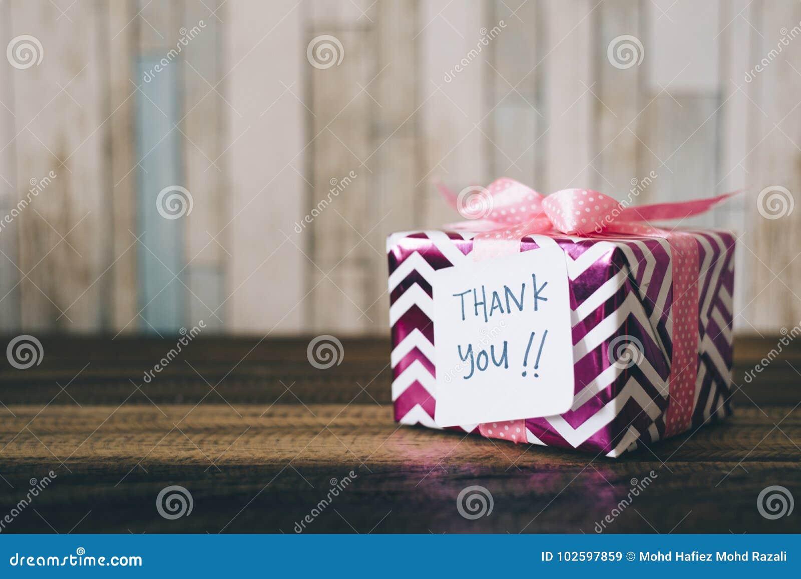 Gåva/gåva med en tacka dig att notera