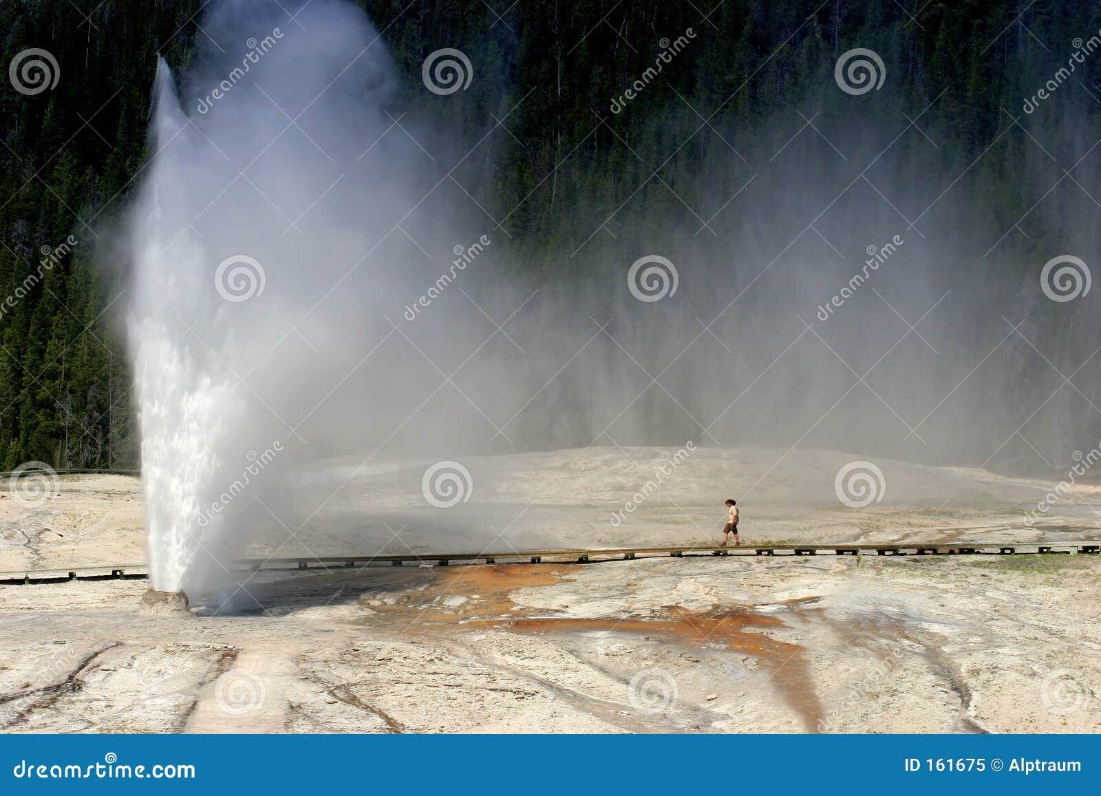 Géiser de la colmena en el parque nacional de Yellowstone