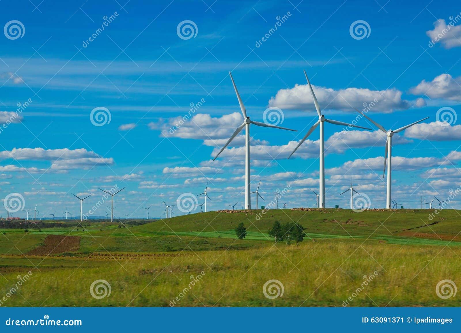 Download Générateur D'énergie éolienne D'Eco Sur La Prairie Image stock - Image du énergie, machines: 63091371
