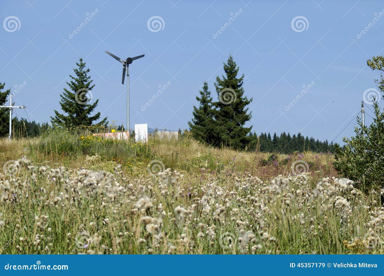 Générateur de vent électrique dans des ponts en or