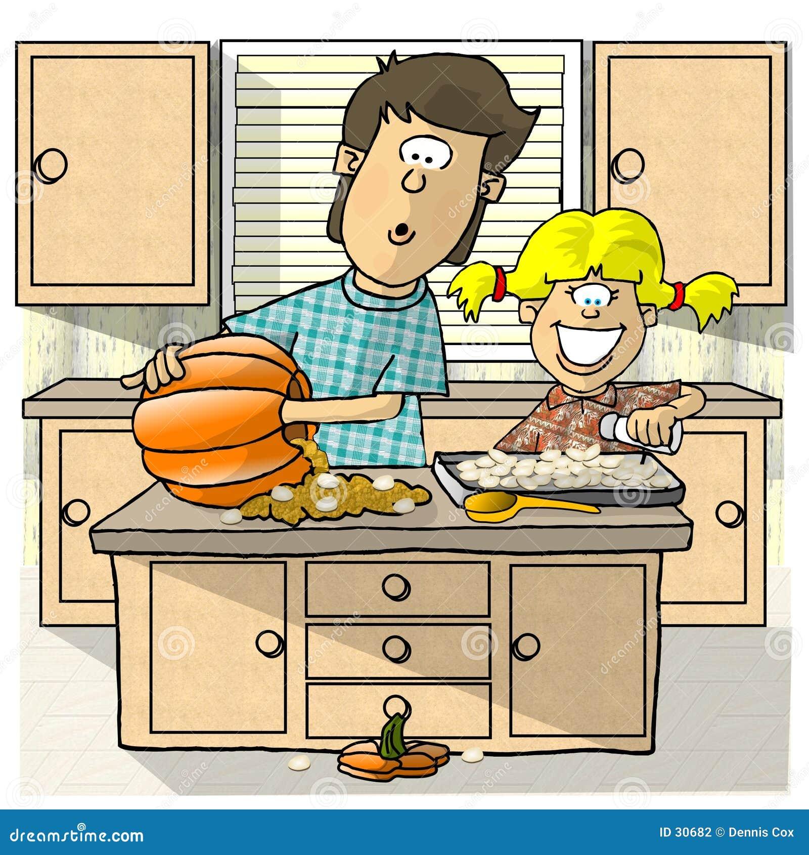 Download Gérmenes De Calabaza De La Asación Stock de ilustración - Ilustración de diversión, otoño: 30682