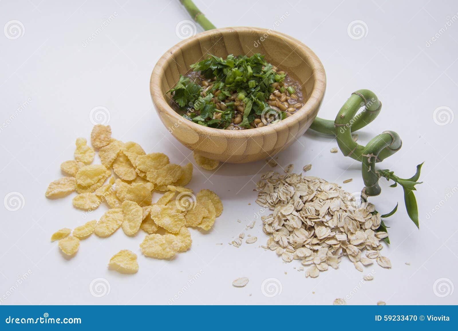 Gérmenes de trigo de Livw y diversas escamas