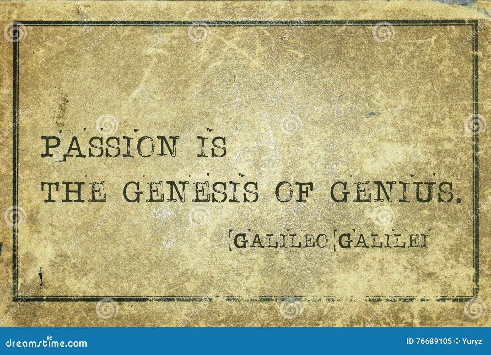 Gênese Galilei da paixão