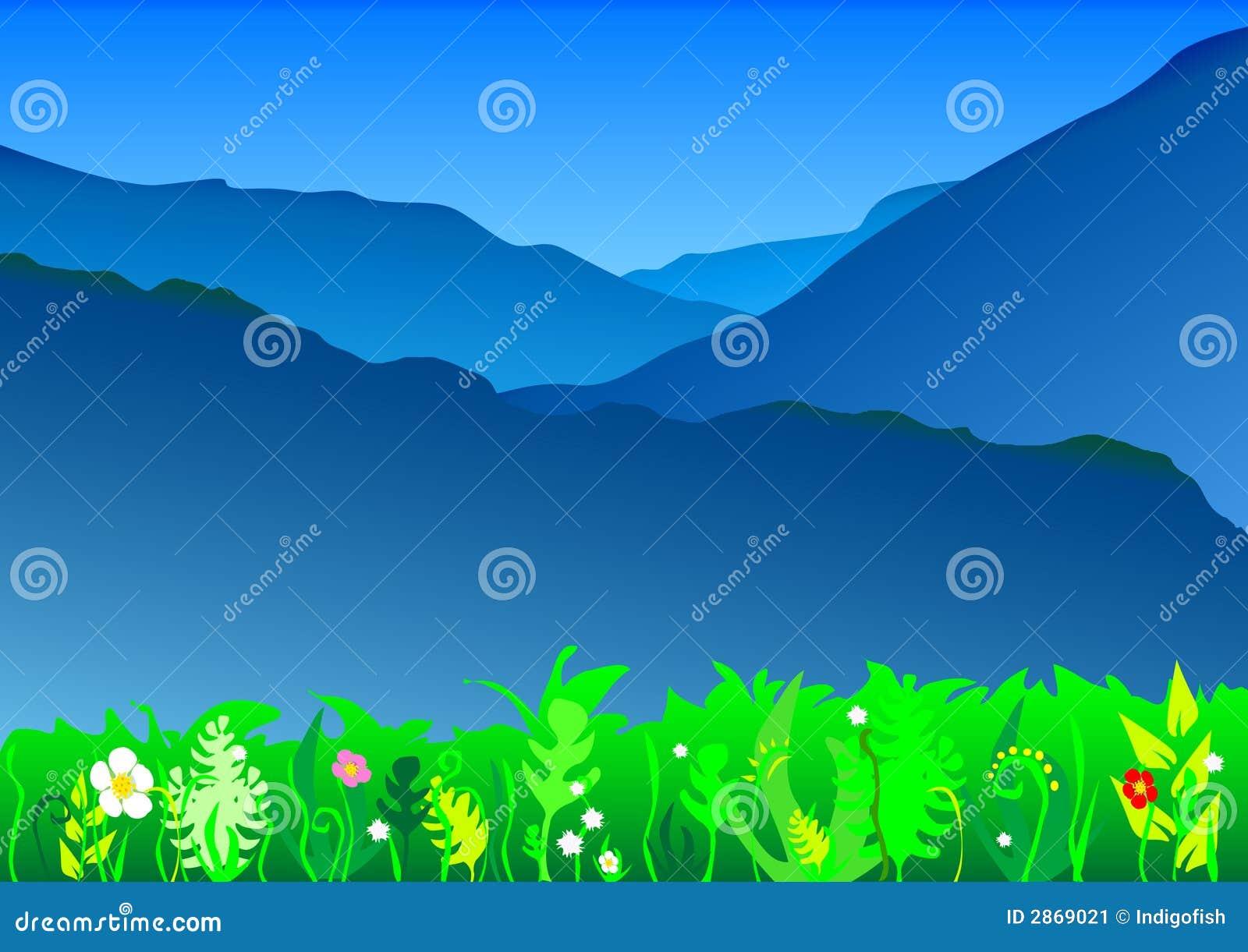 Góra błękitny krajobraz