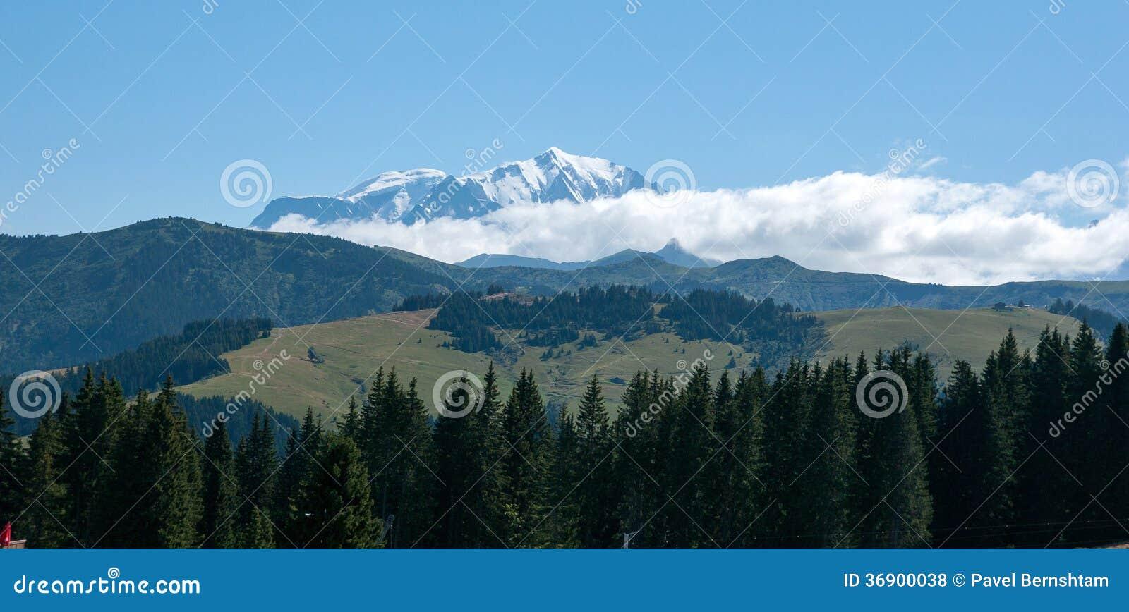 Góra krajobraz w Alps