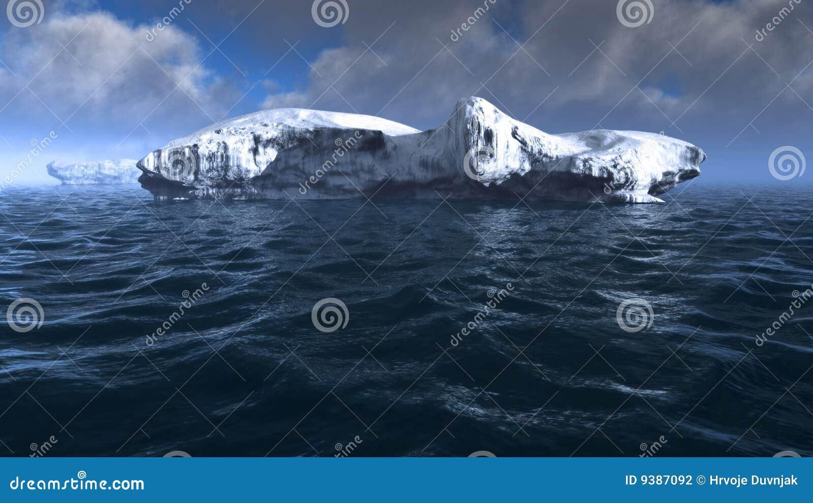 Góra lodowa morze