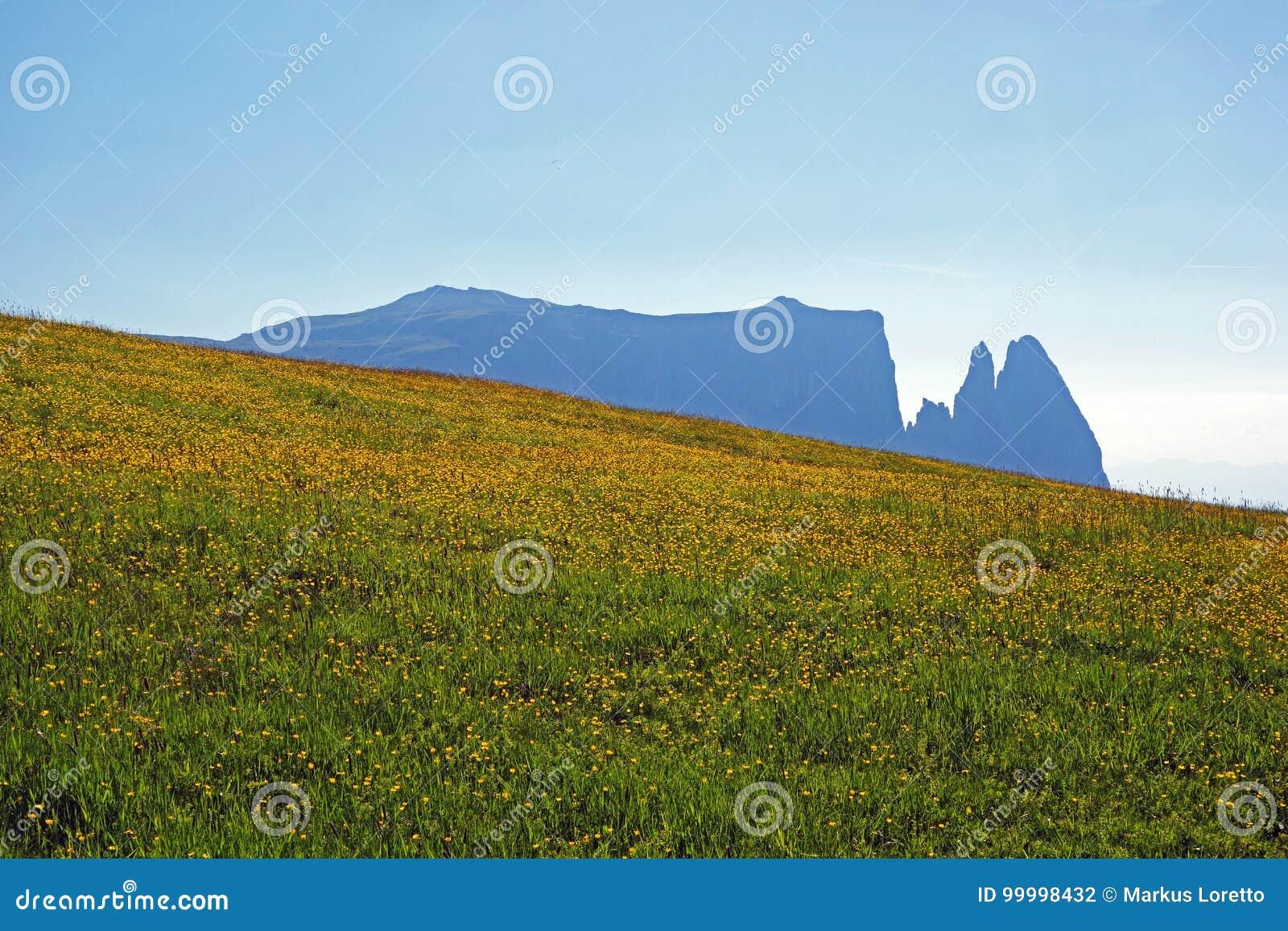 Góra Schlern na Seiser alm
