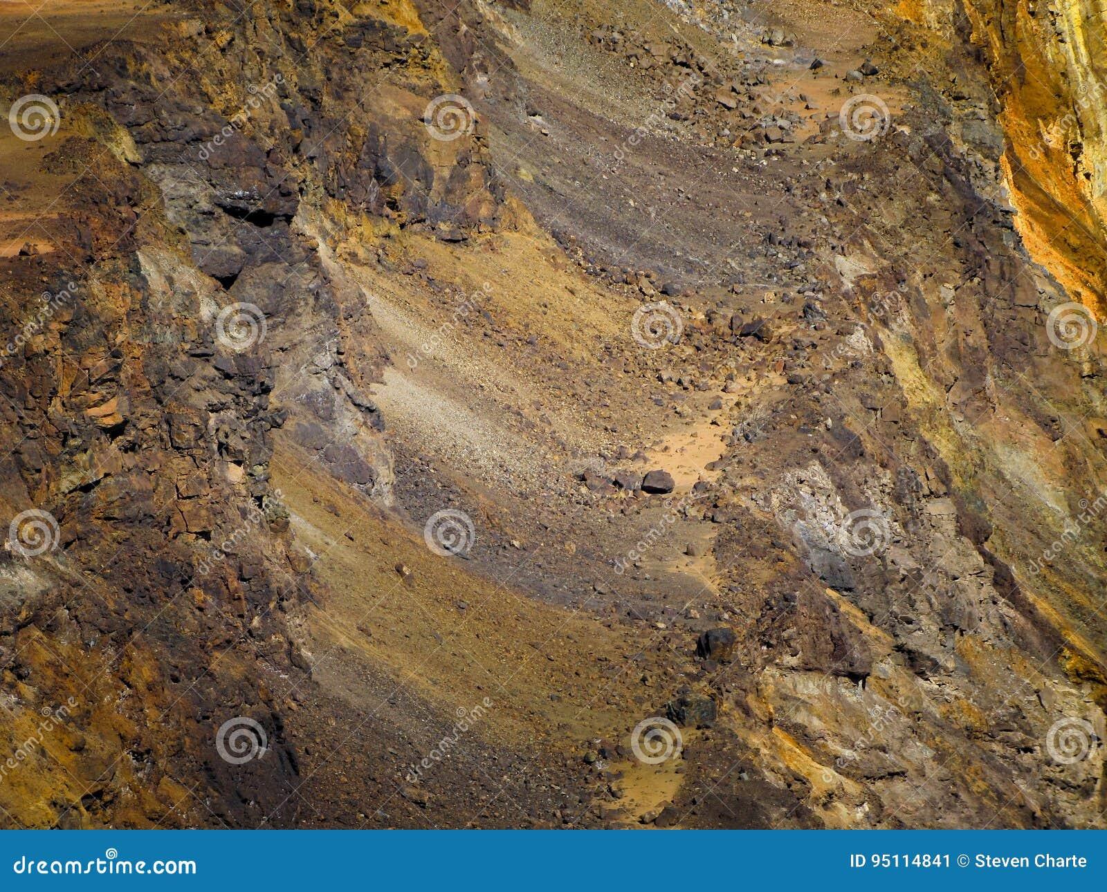 Górniczy rudny tło