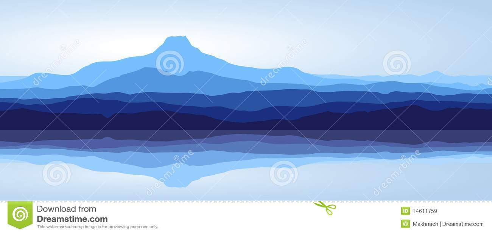Góry błękitny jeziorna panorama