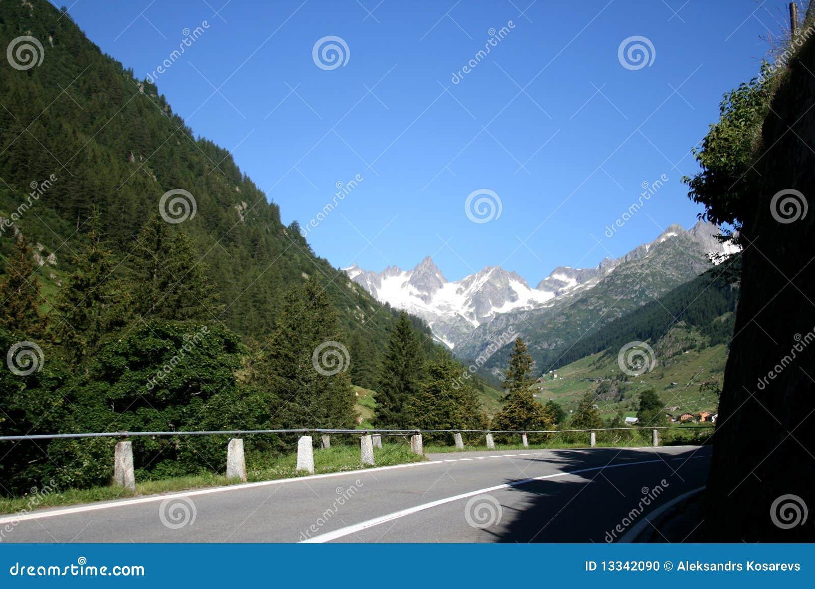 Góry droga Switzerland