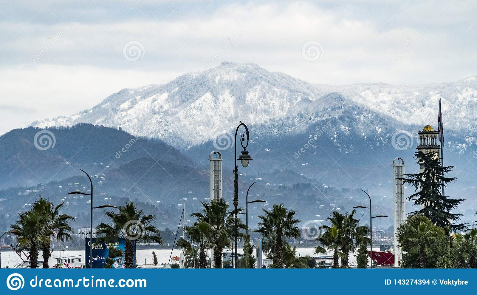 Góry i drzewka palmowe