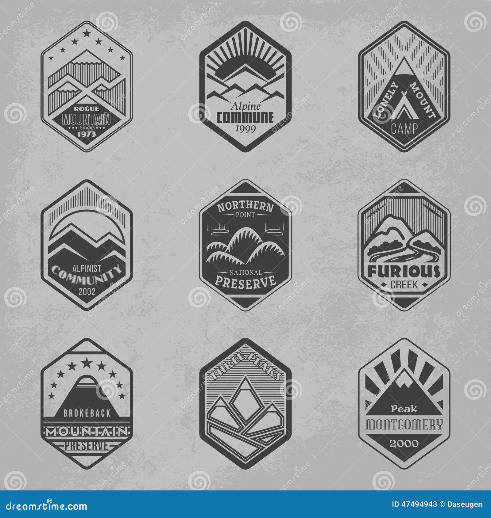 Góry odznaka set1