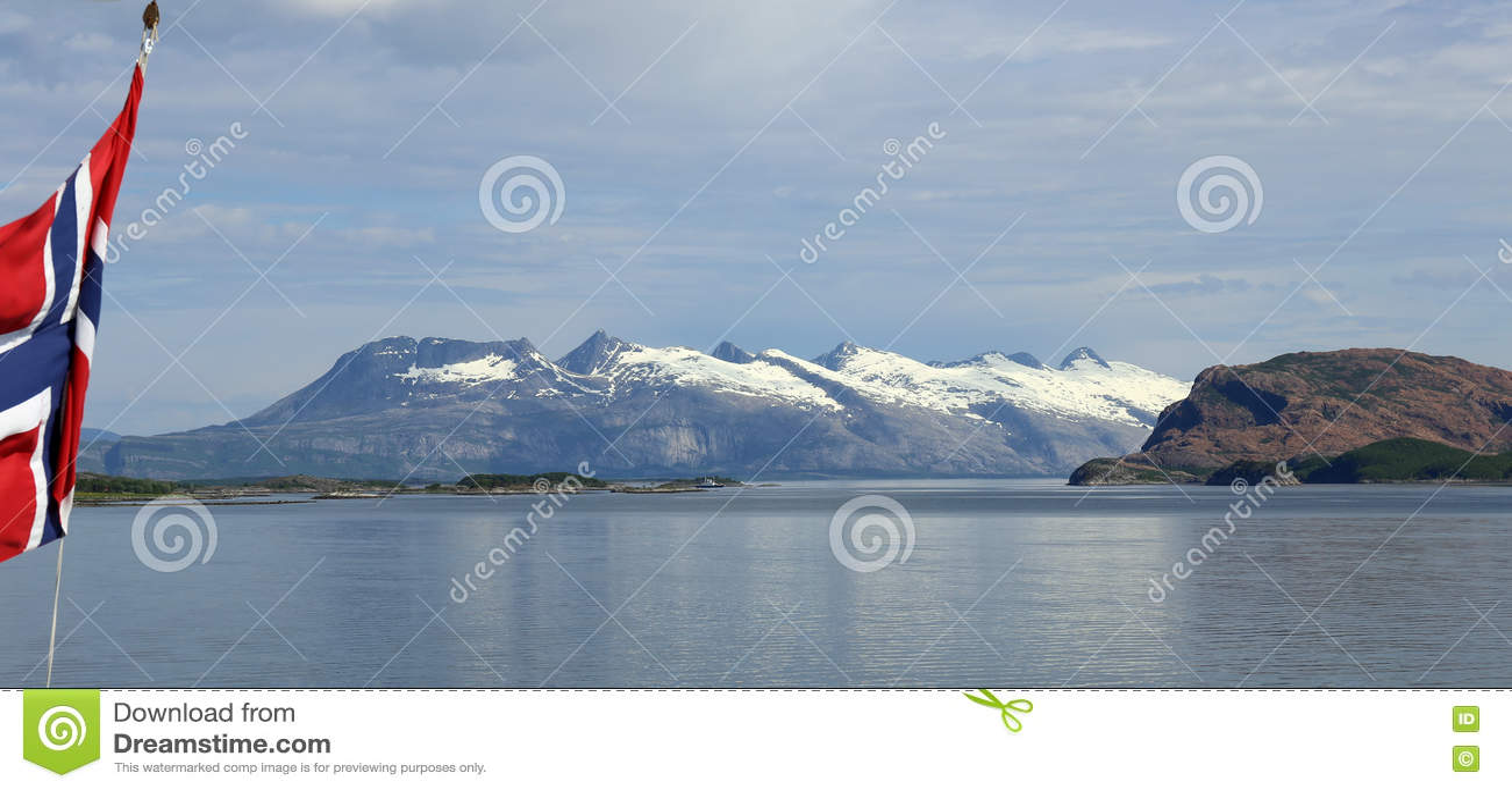 Góry Siedem siostr w północy Norwegia