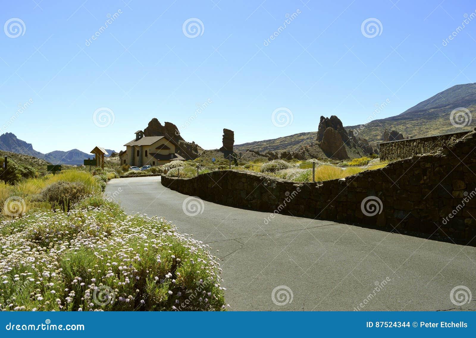 Góry Teide parka narodowego kościół