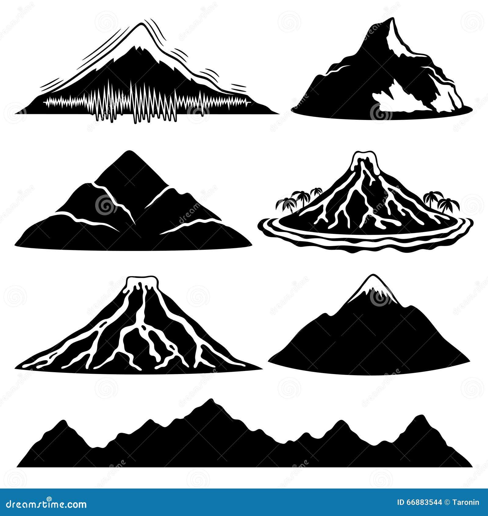 Góry, volcanoes i tropikalna wyspa,