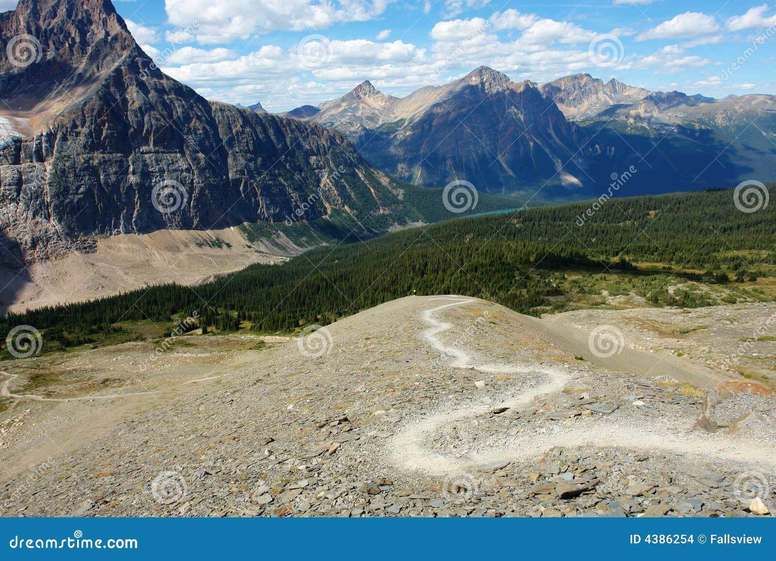 Góry wędrówki toru
