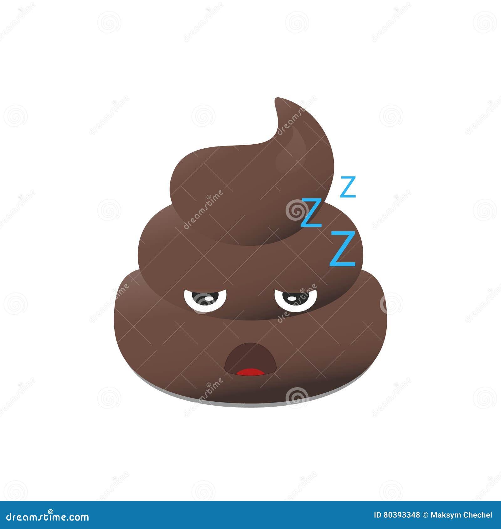 Gówna emoji Poo emoticon Kaku twarz odizolowywająca