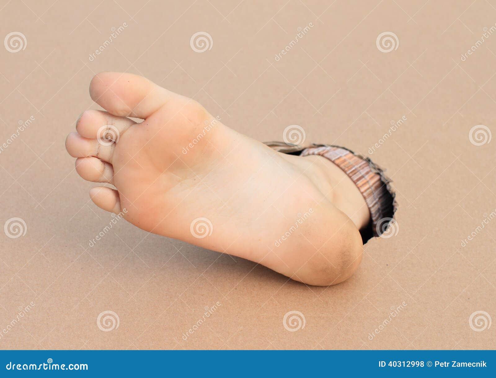 Gör bar endast av den högra foten