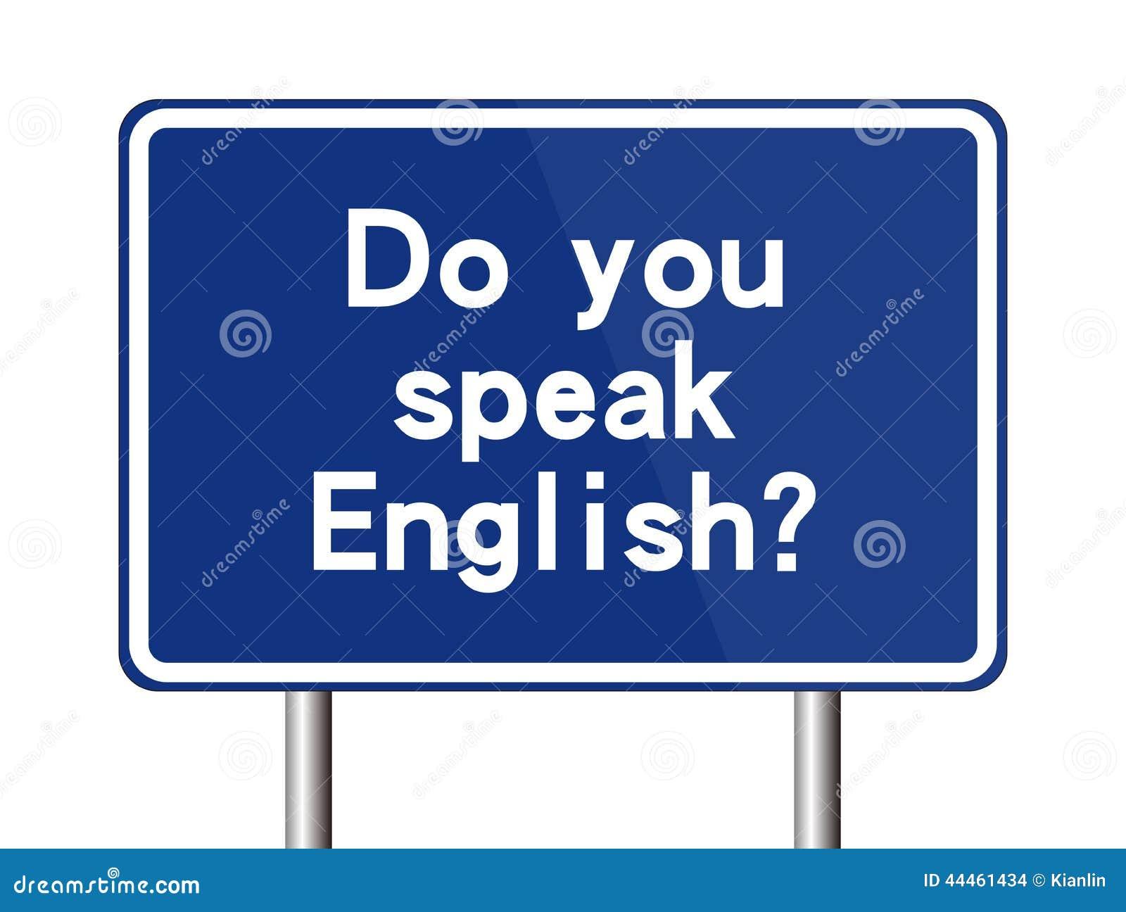 Gör det engelska tecknet talar dig