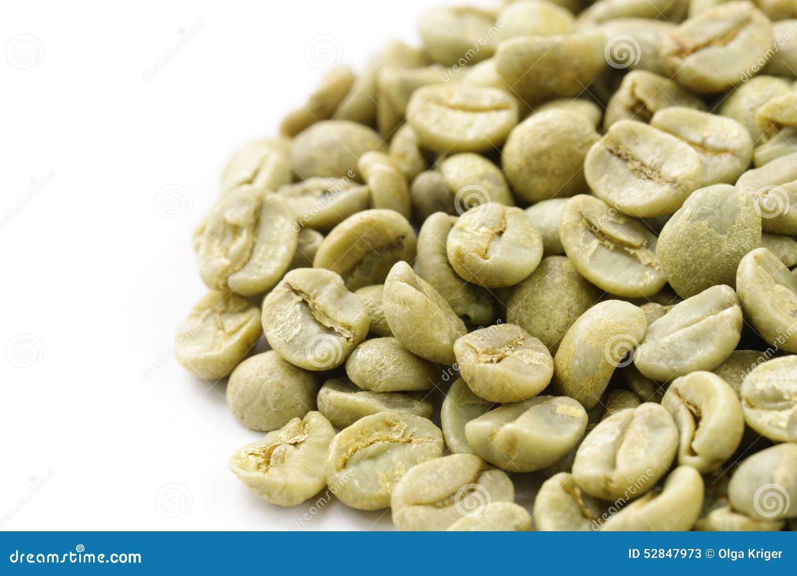 grön kaffe bönor