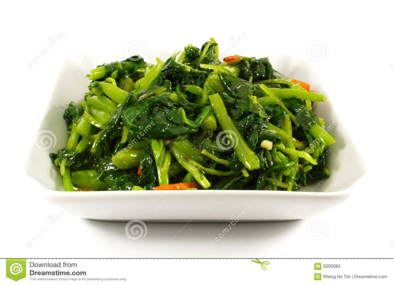 Görar grön sunda ångade grönsaker