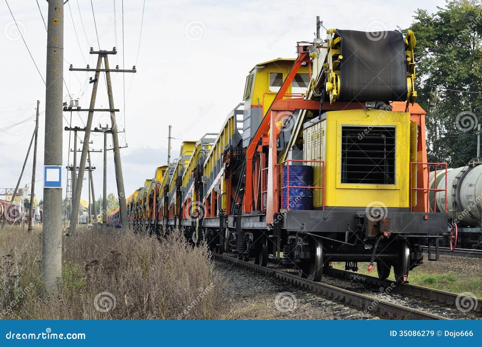 Güterzugaufenthalt auf Eisenbahn