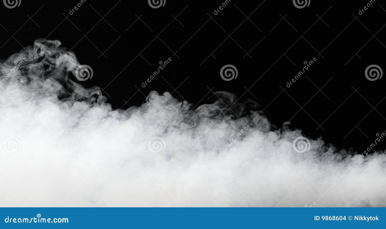 Gęsty mgła strumień