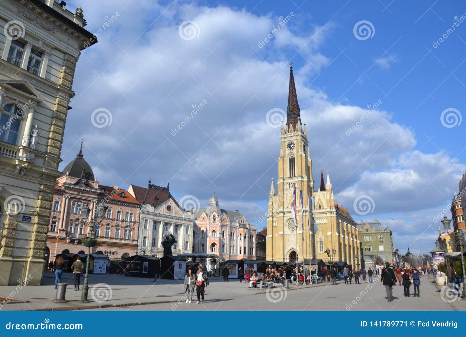 Główny plac w Novi Sad, Serbia