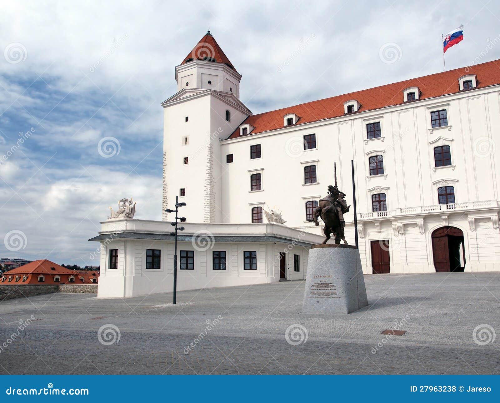 Główny podwórze Bratislava kasztel, Sistani