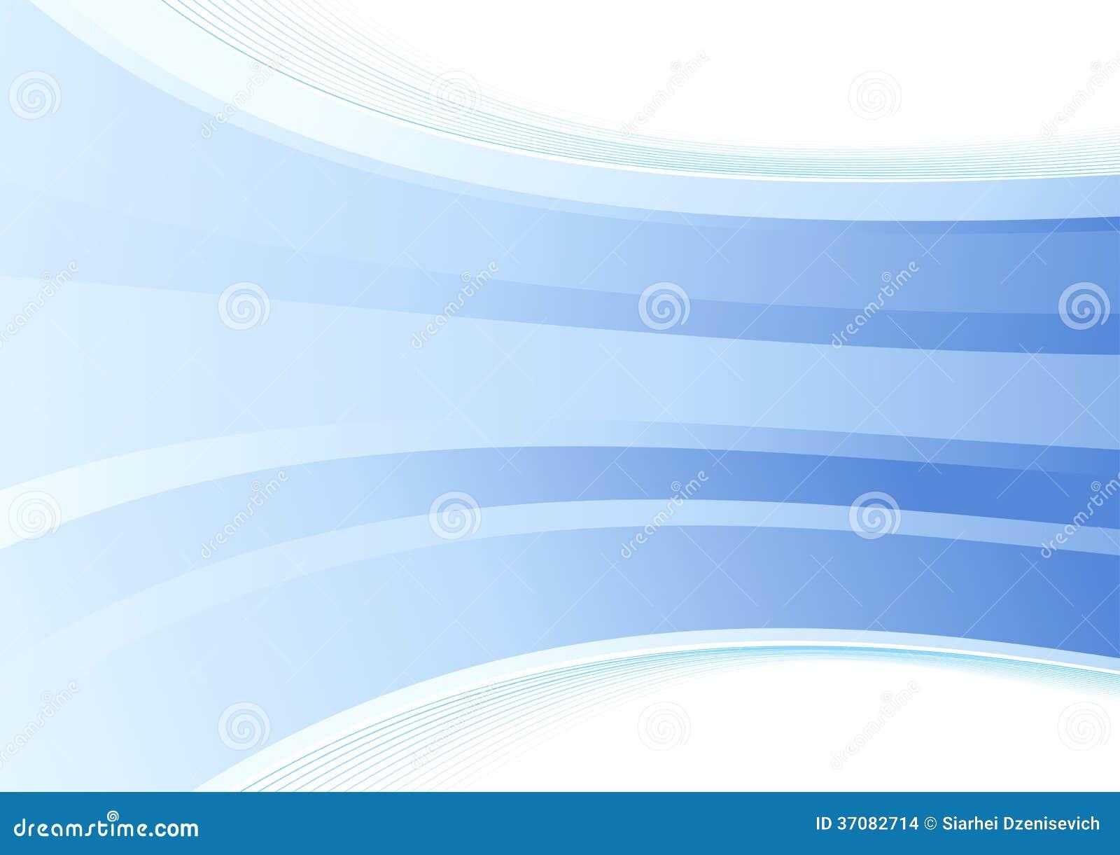 Download Gładki błękit fala tło ilustracja wektor. Ilustracja złożonej z falcówka - 37082714