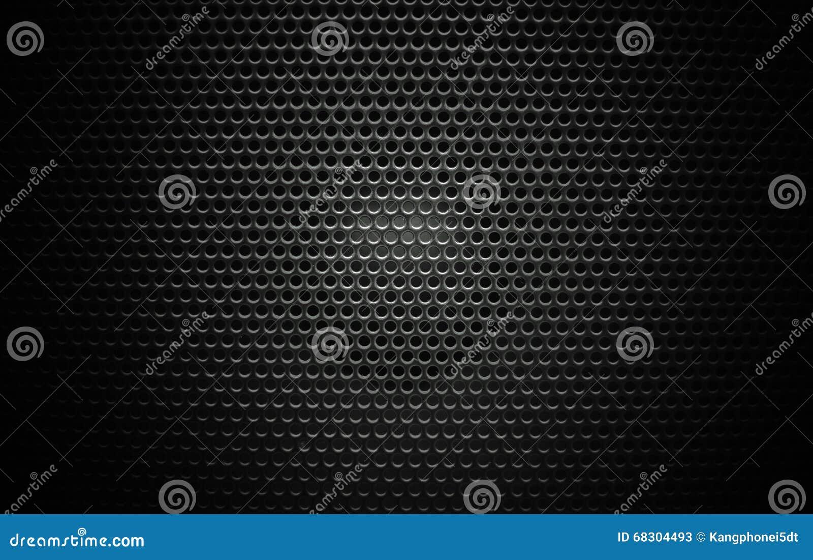 Głośnikowy grill tekstury czerń