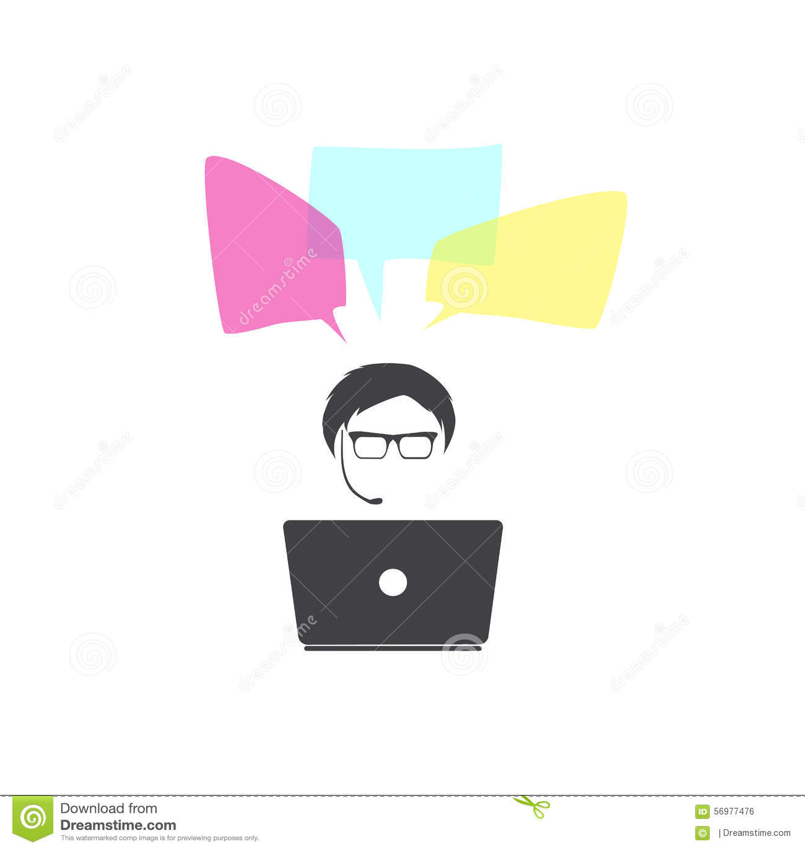 Głośnikowy mężczyzna bąbla graficznej osoby mowy target14_0_ wektor wektor